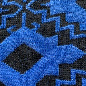 Vintage Sweaters - VINTAGE Metallic Geometric Sweater M EUC